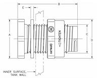 Bulkhead Fittings - Standard Flange 2